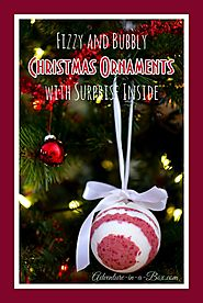 Bath Bomb Christmas Ornaments with Surprise Inside