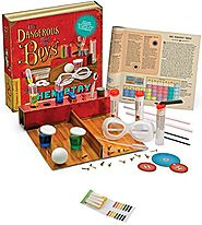 Thames & Kosmos 600001 Dangerous Book for Boys Classic Chemistry Science Kit