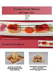 Formal Event Menus