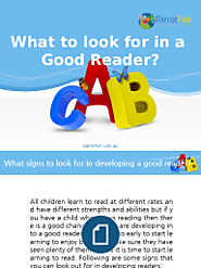 What to Look for in a Good Reader