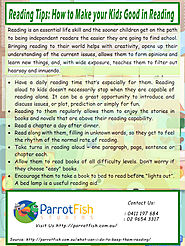 Reading Tips: How to Make your Kids Good in Reading