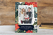 Winter botanicals christmas photo cards