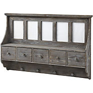 Hill Interiors Photo Frame Wall Unit with 5 Drawers And Hooks