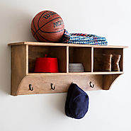 Wall Mounted Coat And Shelf Unit