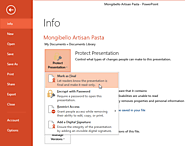 PowerPoint 2013: Finalizing and Protecting Presentations