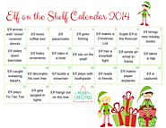 Elf on the Shelf Calendar - 2014