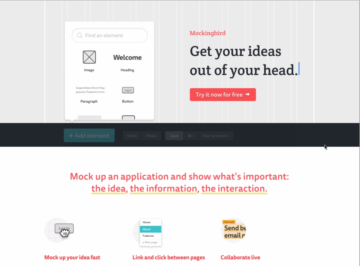 Headline for Mockups, Prototypes and Wireframes: Visual Collaboration