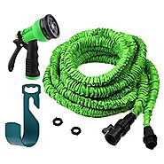 Cyber Monday Sale! Expandable Garden Hose - 50 Ft, No Kink, Lightweight & Flexible Shrinking / Expanding Retractable ...