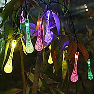 Solar Outdoor String Lights - Innoo Tech 20 Led Icicle Globe - Patio Light for Garden - Christmas - Wedding - Party -...