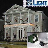 Light Flurries Magical Falling White Snowflakes Christmas Light Projector - discount christmas lights