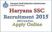 Apply Online for HSSC 2015, 4425 Clerk Posts