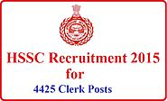 HSSC Clerk Recruitment 2015-Apply Online Till 6th January