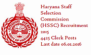 HSSC Recruitment 2015-16, Apply for 4425 Clerk Posts