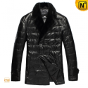Black Leather Down Winter Jacket CW832100 - cwmalls.com