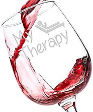 My Therapy Funny Wine Glass 13 oz - Perfect Christmas Gift for Women, Unique Novelty Christmas Present Idea for a Mom...