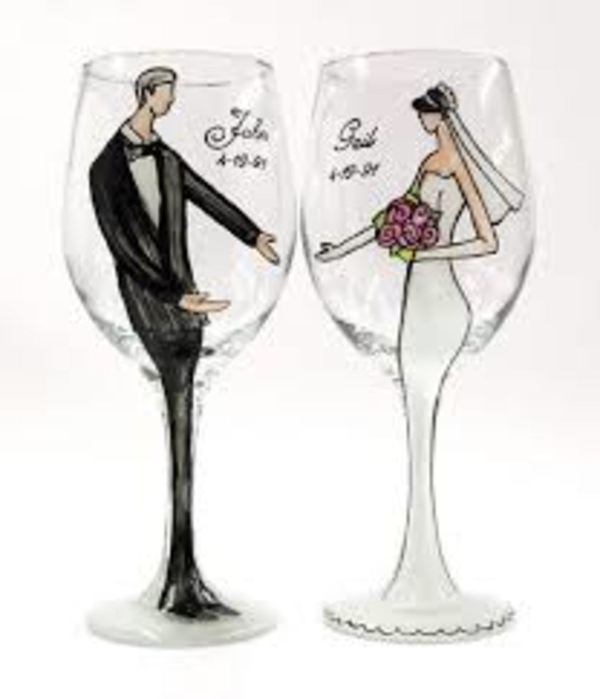 Headline For Personalized Wine Gles Wedding Gift