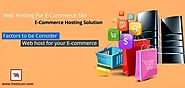 What to Consider While Choosing Web Hosting For E-Commerce Site?