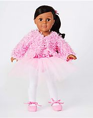 """Pink Ballerina"" Dollie - 18 inch Play Doll (Latina)"