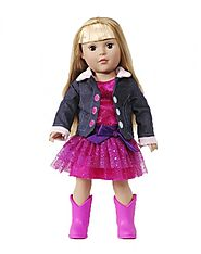 """Pink Glitter Puff"" Dollie - 18 inch Play Doll"