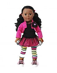 """Glitter Glam"" Dollie - 18 inch Play Doll - African American"