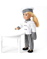"""Chef Dollie!"" Doll Clothes Outfit Set for 18-Inch Play Doll"