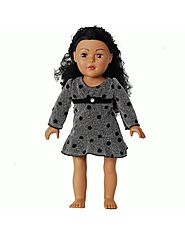 """Shimmer Polka Dots"" Dress Doll Clothes Outfit for 18 inch Play Doll"