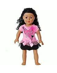 """Pink Love"" Doll Clothes Outfit for 18 inch Play Doll"