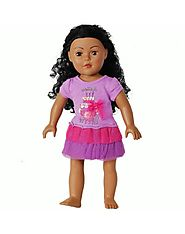 """Make a Wish"" Tutu Birthday Dress Doll Clothes Outfit for 18 inch Play Doll"