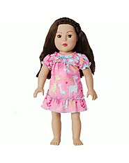 """Dreamy Giraffe"" Nightgown Doll Clothes Outfit for 18 inch Play Doll"
