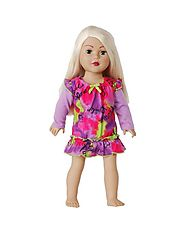 """Flower Power"" Nightgown Doll Clothes Outfit for 18 inch Play Doll"