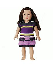 """Snazzy Stripes"" Sweater Doll Clothes Outfit for 18 inch Play Doll"