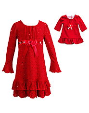 Radiant Red - Girls Fashion Dress | Matching Outfit for Dolls