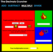 The Decimals Cruncher - Multiplication