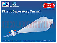 Plastic Separatory Funnel Manufacturers India | DESCO India