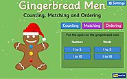 The Gingerbread Man Game - Counting, Matching and Ordering game