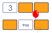 Spanish - Concentration - Match number with number name