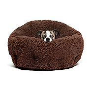"Best Friends by Sheri OrthoComfort Deep Dish Cuddler in Sherpa, Brown, 20""x20""x12"""