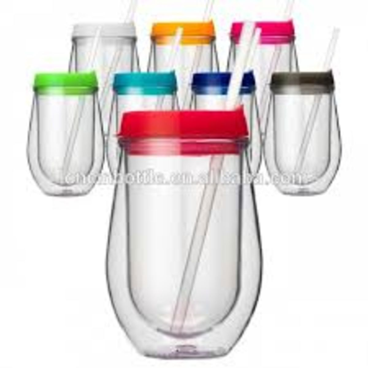 Headline for Plastic Stemless Wine Glasses With Lid and Straw