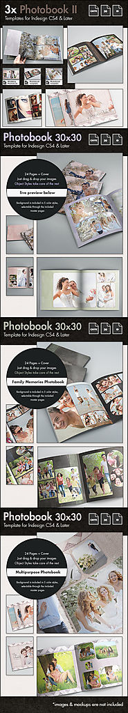 3x Photobook Album Template Bundle II