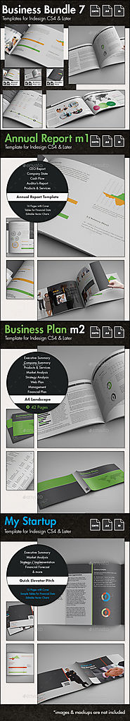 Business Templates Bundle 7 - A4 Landscape