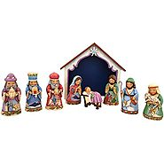 Jim Shore for Enesco Heartwood Creek Pint Sized 9 Pc Nativity Set Figurine, 9.75-Inch