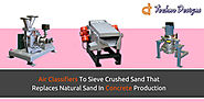 Air Classifiers To Sieve Crushed Sand That Replaces Natural Sand In Concrete Production
