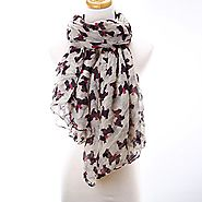 Jianyana New Stylish Ladies Fashion West Highland Terrier Scottish Dog Scarf