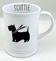 Cute Scottie Dog Ceramic Mug - Fringe Studio