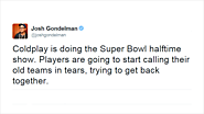 Twitter Erupts in Mockery Over Selection of Sleepy Coldplay for Super Bowl Halftime