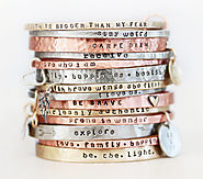 Gift / Gift for Her / ONE BlessingBand / Mantra Bangle / Power Phrase Bracelet / Gift for Her / Unique Gift / Positiv...
