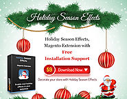 Holiday Season Effects - Enable magento snow fall, santa, decorative lights. magento Christmas extension, New year ex...
