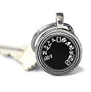 Camera Mode Key Chain for Photographers, Photography Keychain, Camera Key Ring