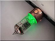 Handmade 16GB GREEN Pentode Radio Tube USB Flash Drive. Steampunk/Industrial style ####### (Tags: Stick Thumb Pen Key...