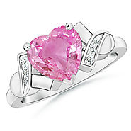 Heart Shape Pink Sapphire Ring